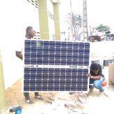 Installation de Lampadaires solaires